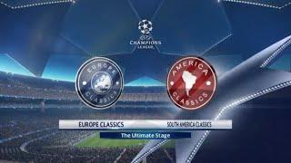 Europe Classics vs South America Classics   PES 2018