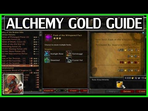 Legion Alchemy Gold Guide - Crazy Gold Flipping Flasks[RNG Heavy] - WoW Legion