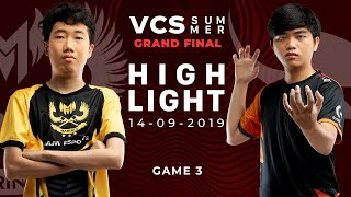 GAM vs FL HighLights [VCS Mùa Hè 2019][Grand Final][14.09.2019][Ván 3]