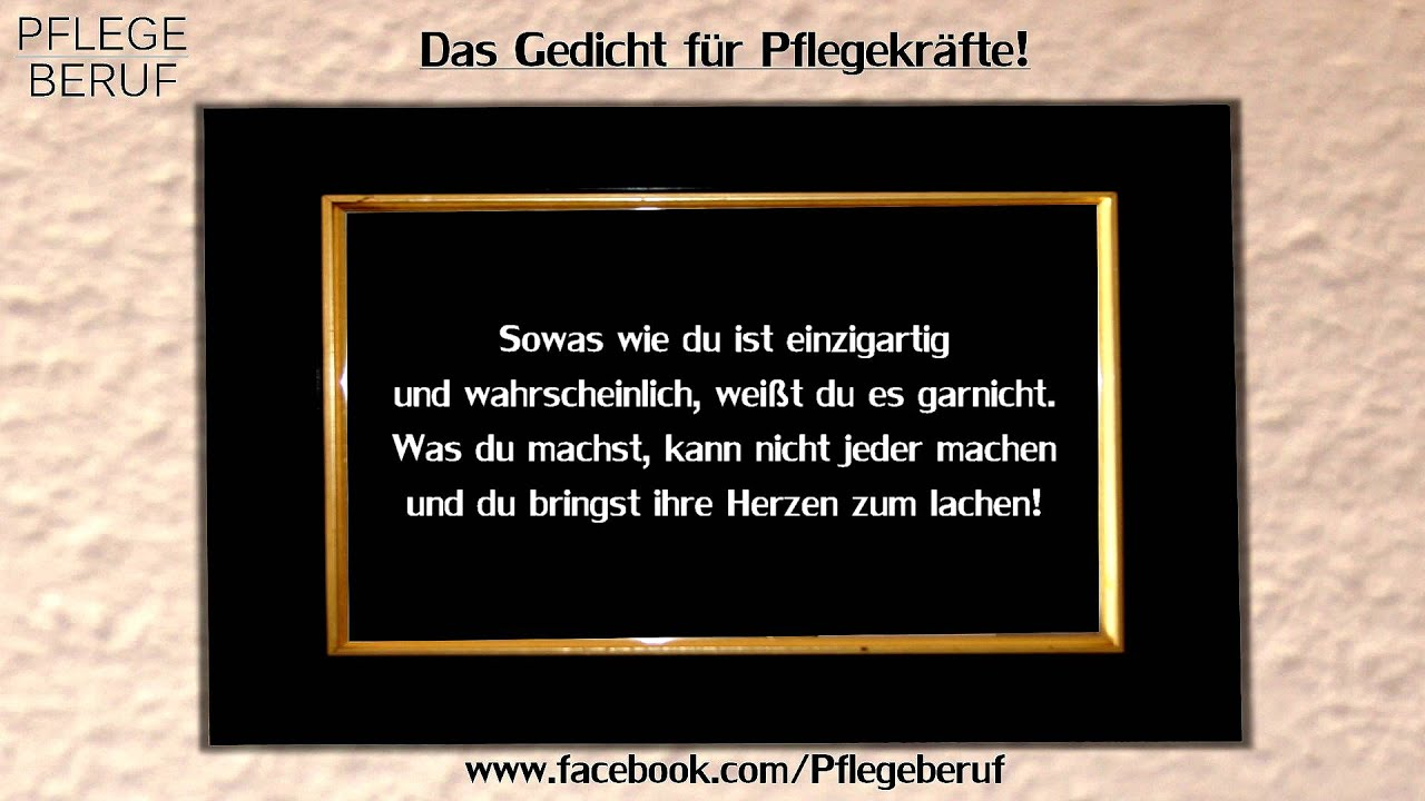 Das Gedicht Fur Pflegekrafte Youtube