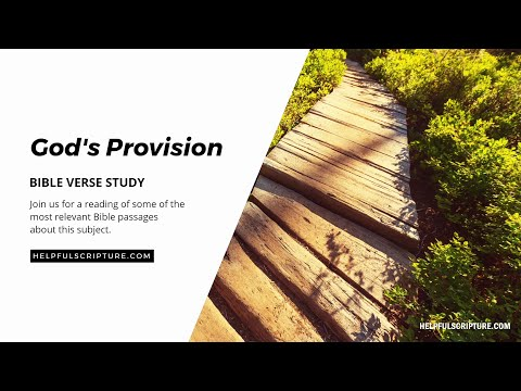 Bible Verses About God's Provision