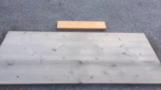 Alder Headboard Weathered With Reclamation Stain- Time Lapse