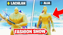 *FAMOUS YOUTUBERS* Fortnite Fashion Show! FIRE Skin Competition! Best DRIP & COMBO WINS!