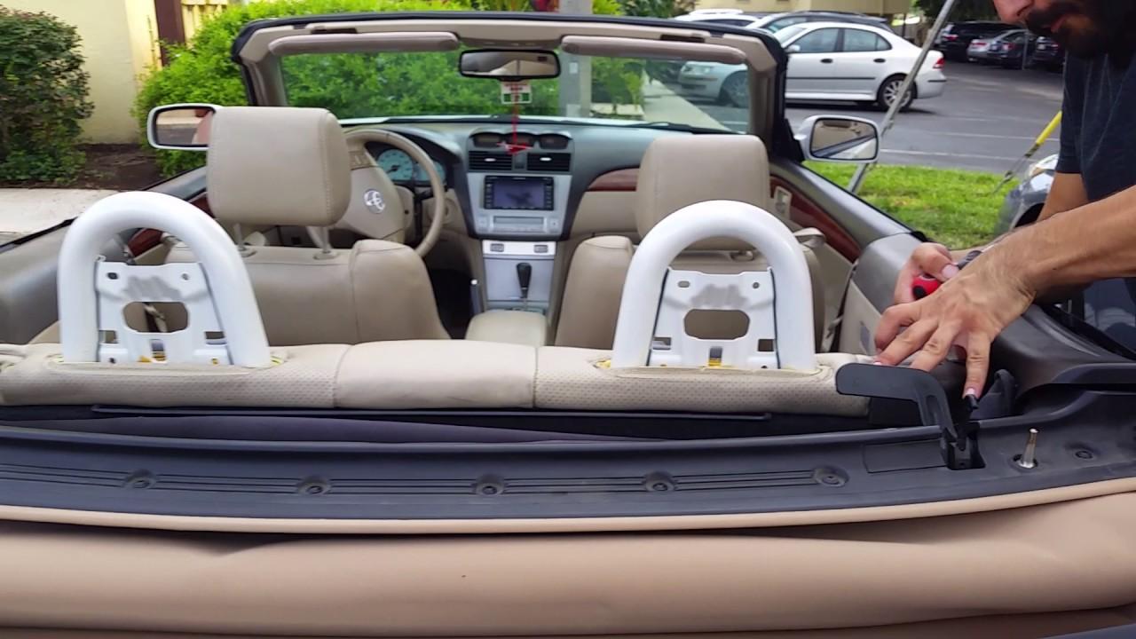 Toyota Solara Convertible 2004 2008 Back Seat Removal