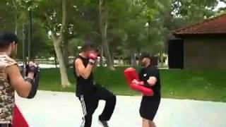 James Maslow boxing