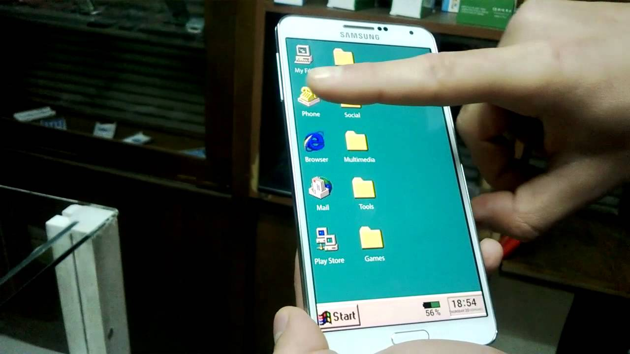galaxy note 3 buzz launcher windows 95 theme youtube. Black Bedroom Furniture Sets. Home Design Ideas