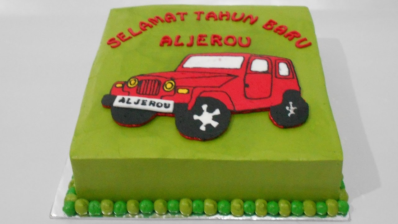 Jeep Birthday Cake Easy YouTube