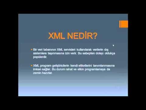 XML NEDİR?