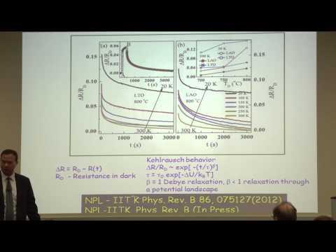 6/3/2014 - DSC - Ramesh Budhani, Nat'l Physical Laboratory - Novel Electronic Phases