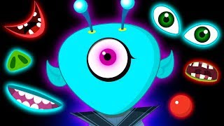 Funny Alien's Missing Face Finger Family Song And Many More Nursery Rhymes for Kids