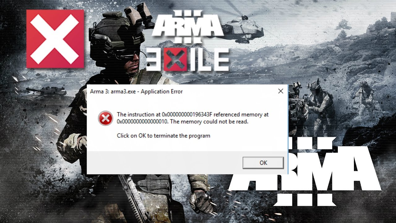 Arma 3 Exile Mod Memory Error Crash Whilst Loading Fixes Youtube