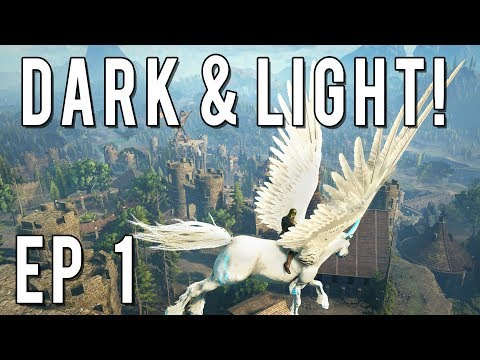 NEW SERIES! LET'S PLAY DARK AND LIGHT EP 1! Character Creation, World Exploration & House Building!