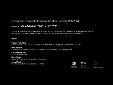 Planning the Just City - Panel Discussion