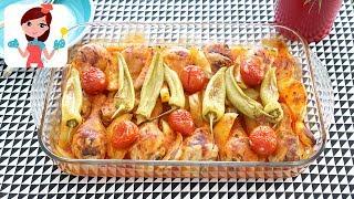 30 Saniyede Fırında Patatesli Tavuk But Tarifi - Kevserin Mutfağı yemek Tarifleri