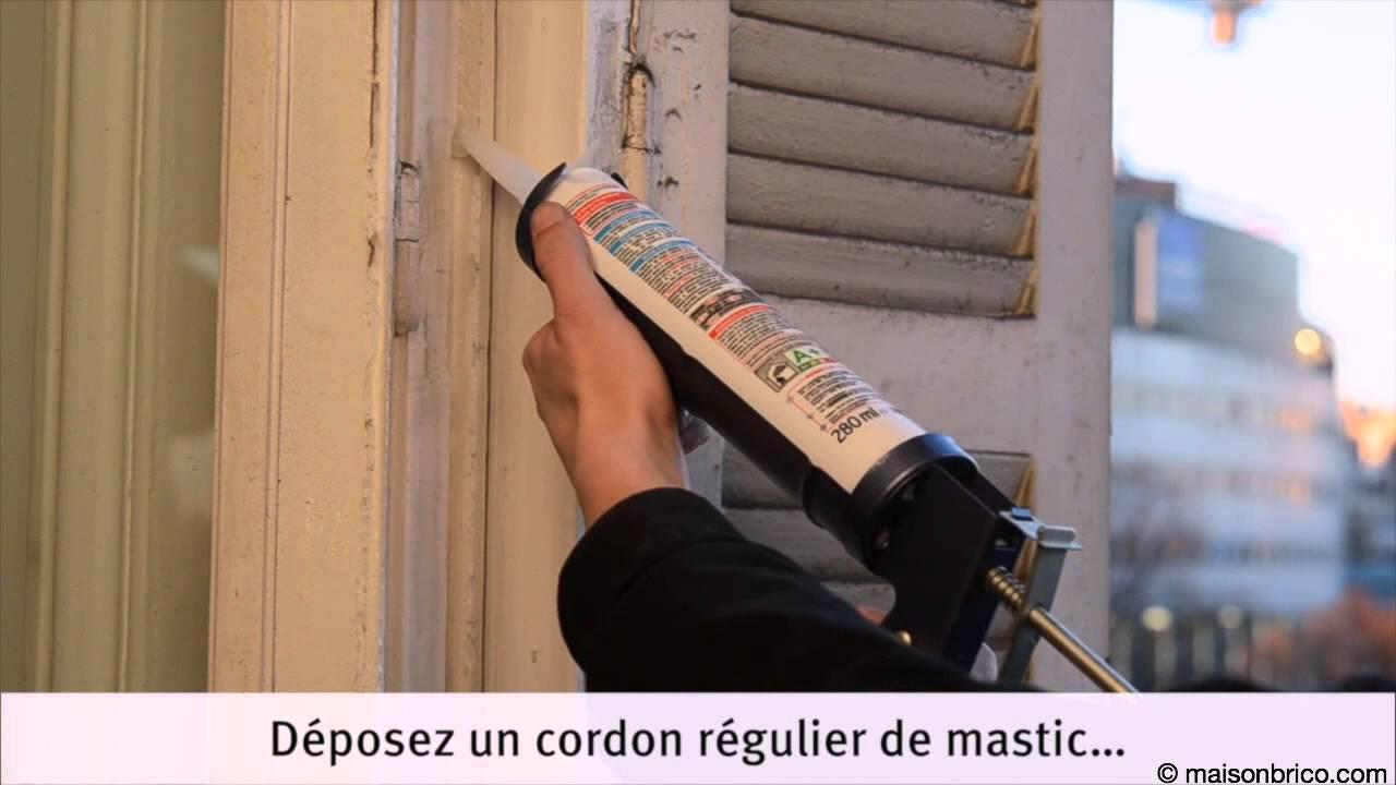Calfeutrage Des Fenêtres Par Joint Silicone Moulé Youtube