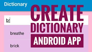 How to create Dictionary App in Sketchware