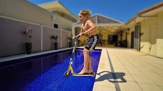SCOOTER POOL SESSION WITH ZANE!