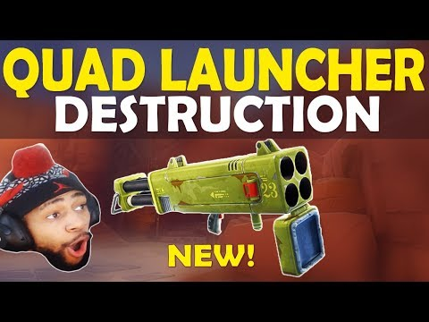 QUAD LAUNCHER DESTRUCTION | FATAL FIELDS FRAGGING | HIGH KILL FUNNY GAME - (Fortnite Battle Royale)
