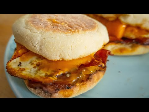 Bacon And Egg English Muffins - With *Cheese!*