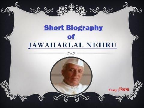 'Jawaharlal Nehru'- Short Biography