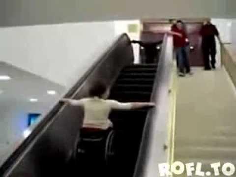 wheelchair vs escalator