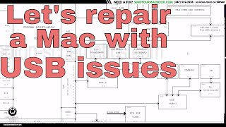Macbook Pro USB port not working: repair, diagnosis and solution.