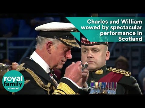 Charles and William wowed by spectacular performance in Scotland