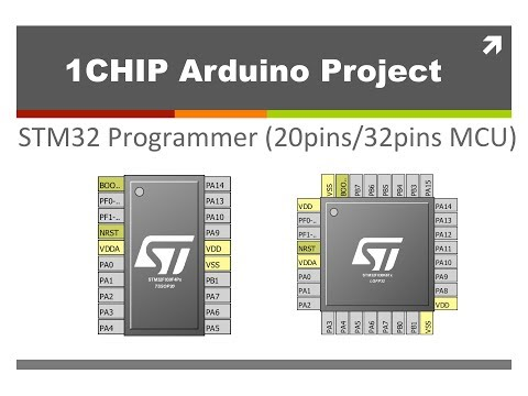 1CHIP: STM32 programmer for almost all 20pins and 32pins MCU