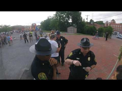 Police intimidation Wytheville VA.