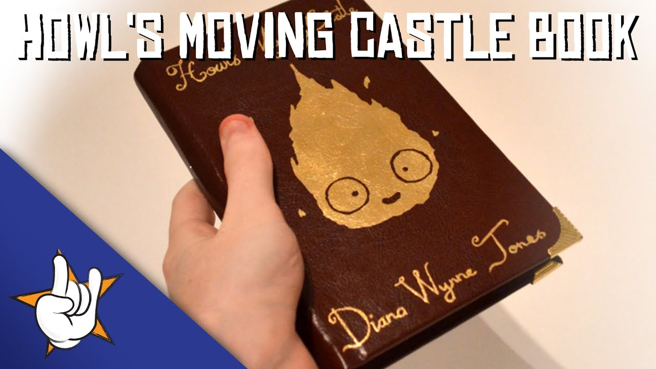 How To Make A Removable Book Cover ~ Howl s moving castle book cover k gold leaf youtube