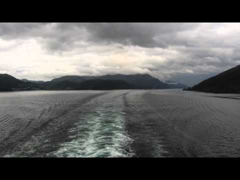 Time-Lapse of Cruise Departing from Olden, Norway - travelling down the Nordfjord