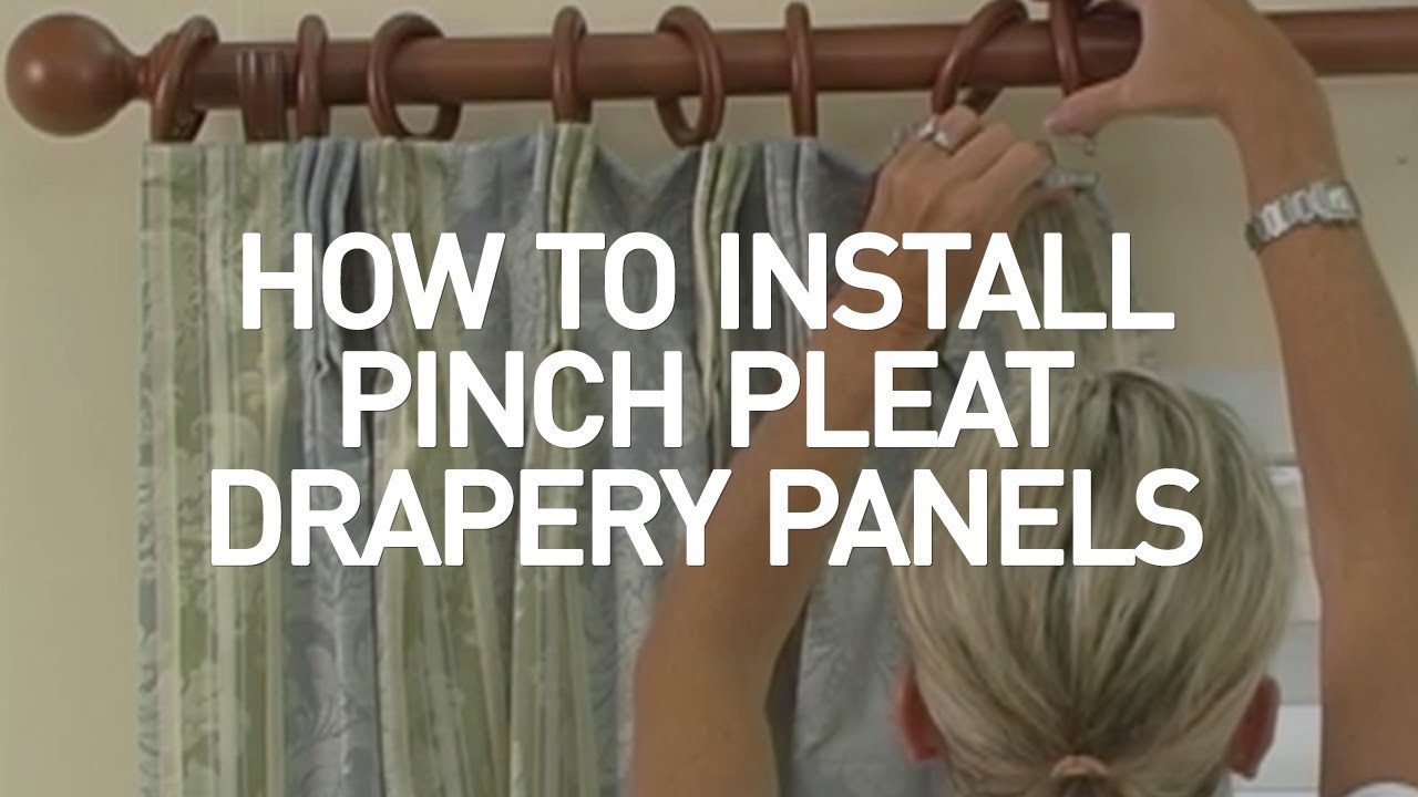 how to install pinch pleat drapery panels