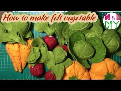 DIY How to make Felt Vegetable