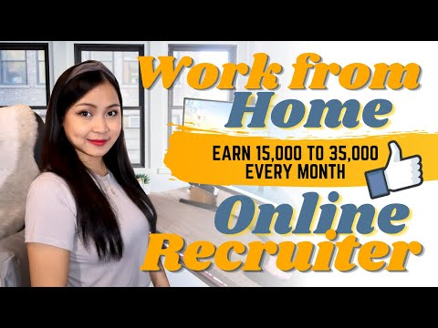 Earn 15,000 to 35,000 as a Virtual Online Recruiter | Homebased Jobs