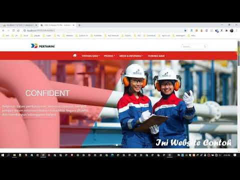 Source Code Website Portal Informasi Perusahaan V1