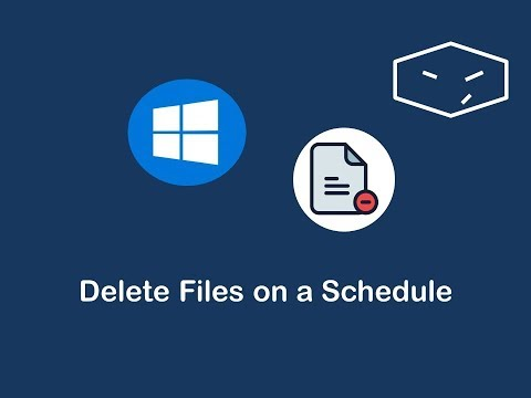 delete files on a schedule in windows