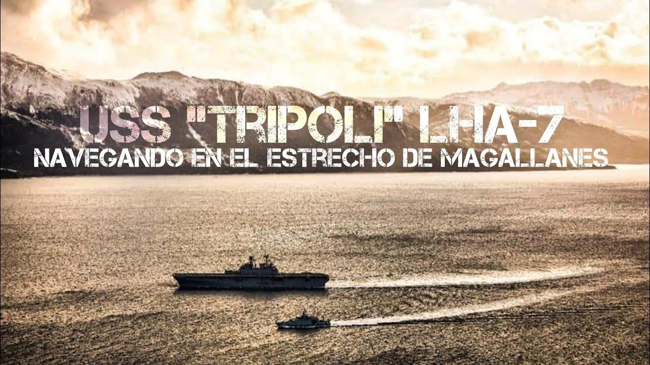 "OPV-83 ""Marinero Fuentealba""y USS TRIPOLI LHA-7"