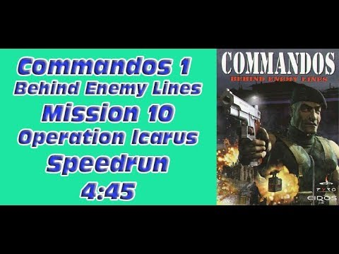 Commandos 1 - Behind Enemy Lines - Mission 10 - Operation Icarus - Speedrun