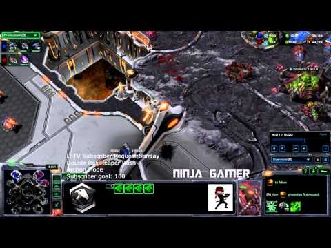 Starcraft 2 Legacy of the Void HD Ultra - Double Rax Reaper Rush (SUBSCRIBER REQUEST SUNDAY)