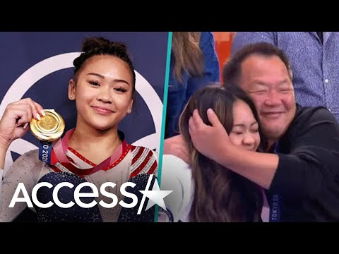 Suni Lee Drapes Her Olympic Gold Medal Around Dad's Neck In Heartfelt Family Reunion After Tokyo