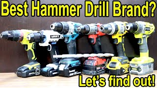 Best Hammer Drill Brand? Let's find out!