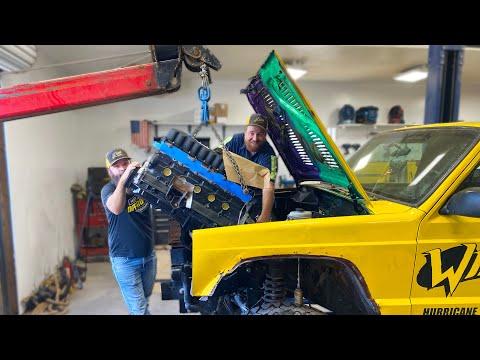 Bigger, Badder, Banana Engine Jeep Install!