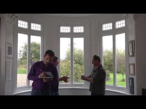 Measuring a Curved Bay Window for a Curtain Pole
