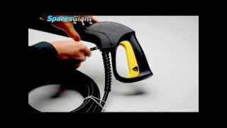 how to replace the hose on a karcher domestic pressure washer