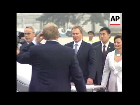 UK Prime Minister arrives in Beijing