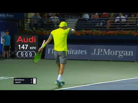 Grigor Dimitrov VS Malek Jaziri Dubai 2018 Highlights: Shock Malek Jaziri knock -out Grigor Dimitrov