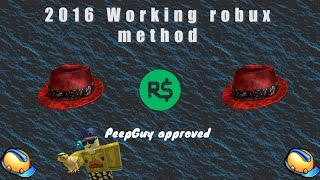Roblox | Robux method 2016 November | Working | Make thousands from free hats