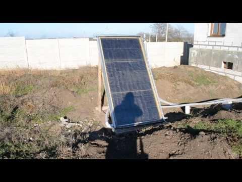 видео: Солнечный коллектор своими руками - обзор, обвязка.