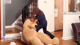 GIANT TEDDY BEAR PRANK ON MOM - GONE EXTREMELY WRONG