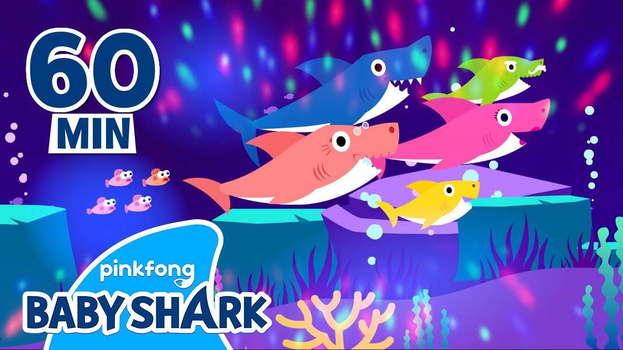 Baby Shark EDM Ver. 1 HOUR Loop!   Baby Shark Remix   Baby Shark Official